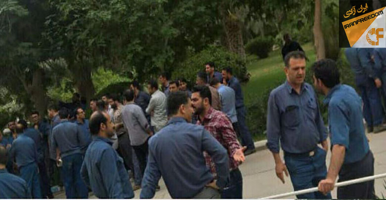 تجمع اعتراضی کارکنان نیروگاه رامین اهواز و کارگران ایران قوطی قزوین