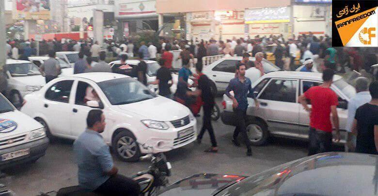 درگیری مردم خرمشهر با ماموران سرکوبگر بدنبال تظاهرات دراعتراض به بی آبی