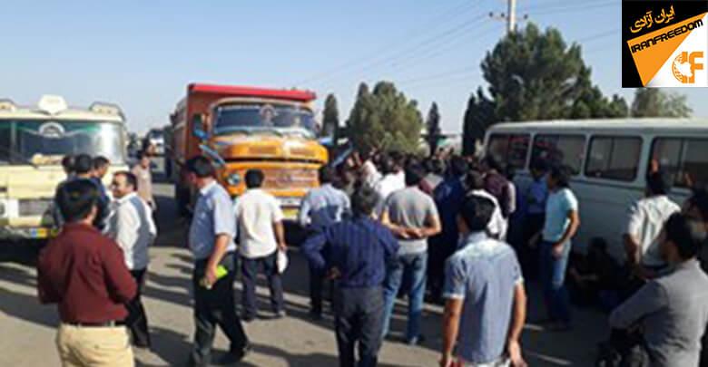 کارگران کارخانه الماس کویر رفسنجان در اعتراض به معوقات حقوقی خود تجمع کردند