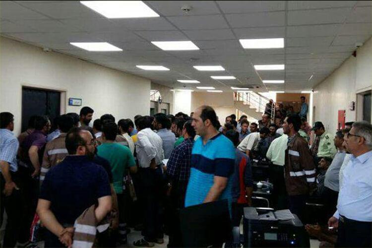 تجمع اعتراضی کارگران راهآهن تبریز