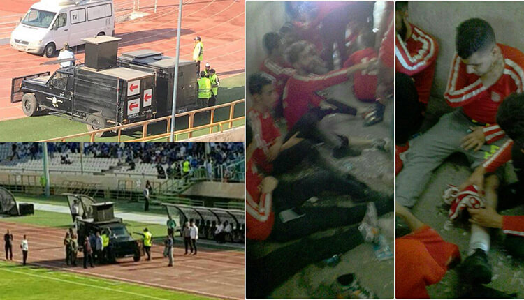 درگیری در استادیوم آزادی بین تماشاگران و ماموران نیروی انتظامی
