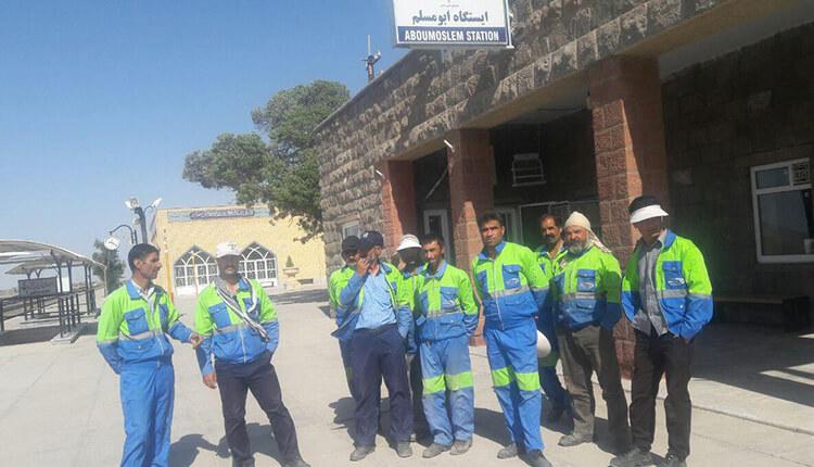 کارگران راهآهن ایستگاه ابومسلم مشهد دست به تجمع اعتراضی زدند