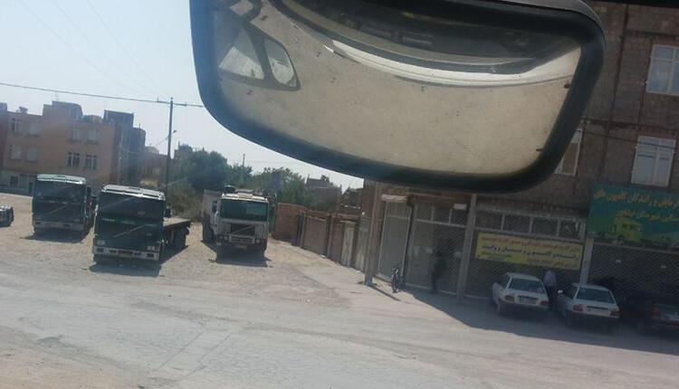 ادامه اعتصاب و اعتراض رانندگان کامیون در نیشابور