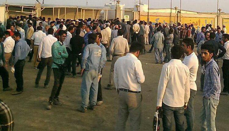 اعتصاب کارگران نفت سنگین در قشم در اعتراض به معوقات حقوقی