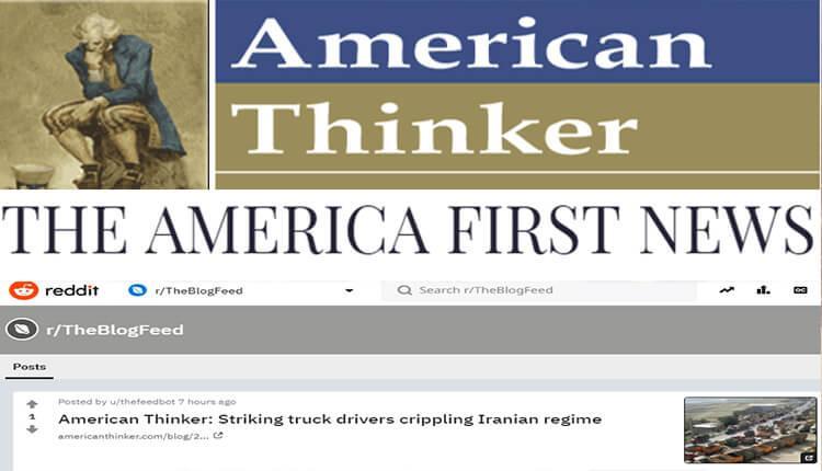 انعکاس اعتصاب سراسری کامیونداران در سایتهای امریکن تینکر، ردیت آمریکا و خبر اول آمریکا