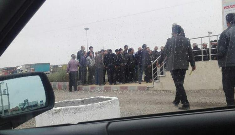 تجمع اعتراضی رانندگان اعتصابی اردبیل