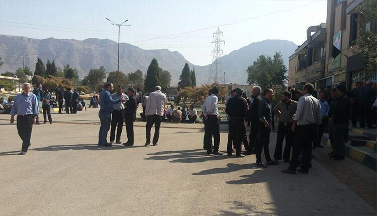 تجمع رانندگان اعتصابی مبارکه