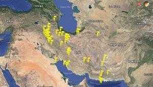 نقشه اعتصاب بازاریان در شهرهای مختلف