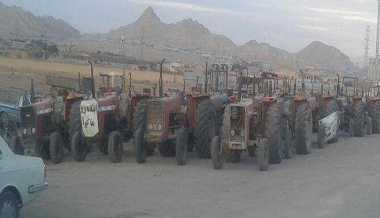 ادامه تجمع و تحصن کشاورزان در خوراسگان در اعتراض به بیآبی و قطع حقآبه
