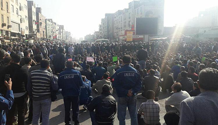 بازداشت شماری از کارگران گروه ملی فولاد اهواز در شب یکشنبه