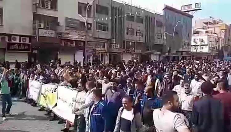 بیست و ششمین روز اعتصاب و تجمع اعتراضی کارگران گروه ملی صنعتی فولاد اهواز