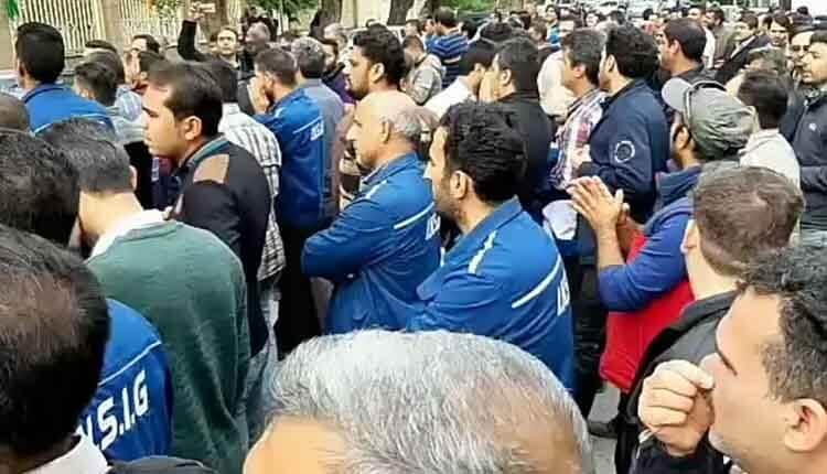 بیست و هفتمین روز اعتصاب و تجمع اعتراضی کارگران گروه ملی فولاد اهواز