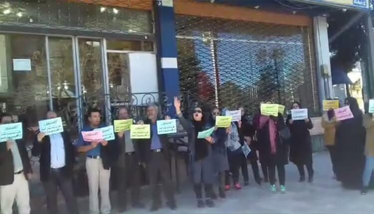 تجمع اعتراضی مالباختگان کاسپین کرمان در اعتراض به برنگرداندن اموالشان