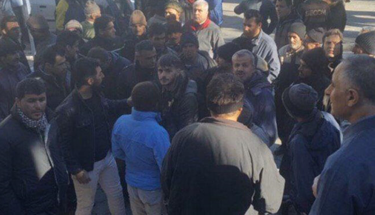 تجمع اعتراضی کارگران شهرداری مهاباد در اعتراض به معوقات حقوقی چندماهه