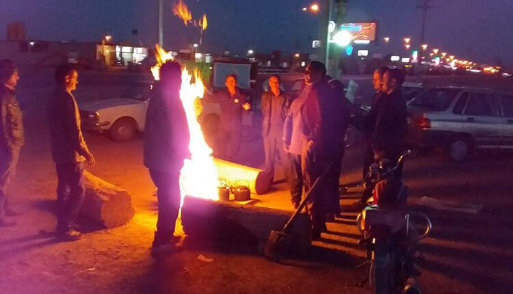 تجمع اعتراضی کشاورزان شرق اصفهان در شهر ورزنه در اعتراض به قطع حقابه