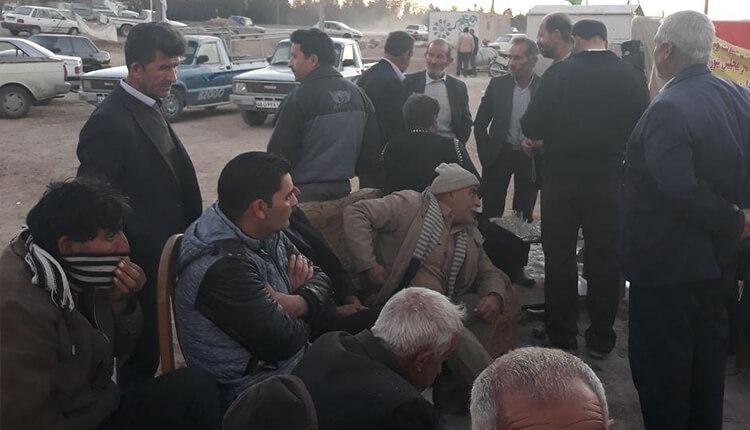 تجمع اعتراضی کشاورزان و حقابه داران خوراسگان در شرق اصفهان