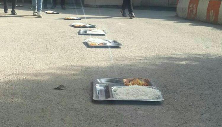 اعتراض دانشجویان دانشگاه رازی کرمانشاه به کیفیت نامناسب غذای سلف دانشگاه