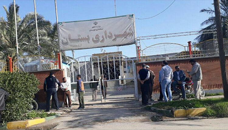 تجمع اعتراضی کارگران شهرداری بستان دراعتراض به پرداخت نشدن حقوق و حق بیمه