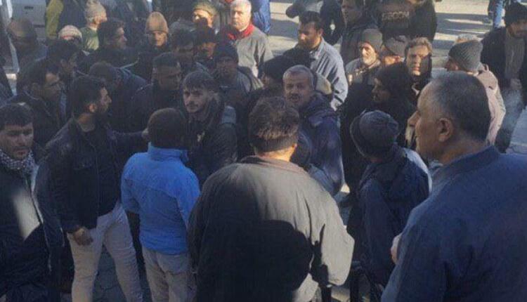 تجمع اعتراضی کارگران شهرداری کرمانشاه در اعتراض به عدم پرداخت معوقات حقوقی