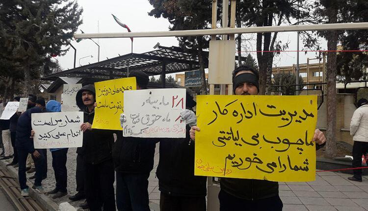 سومین روز تجمع اعتراضی کارگران روغن نباتی جهان در زنجان