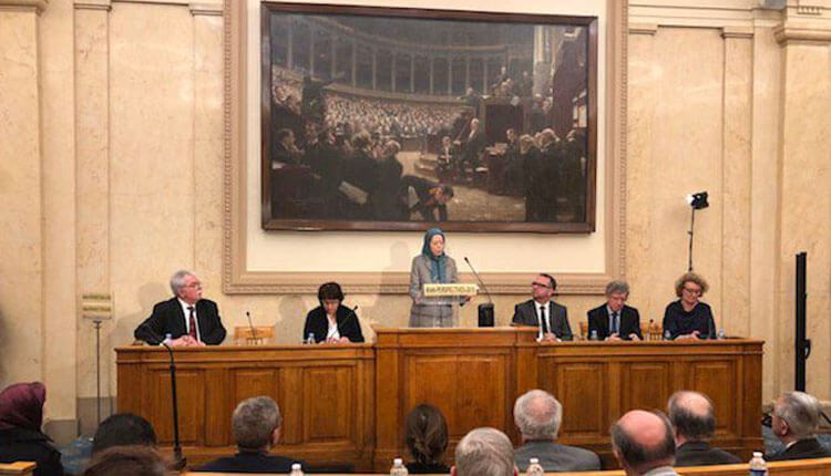 مجلس ملی فرانسه نقض حقوق بشر ومحکومیت تروریسم رابا حضور مریم رجوی بررسی میکند