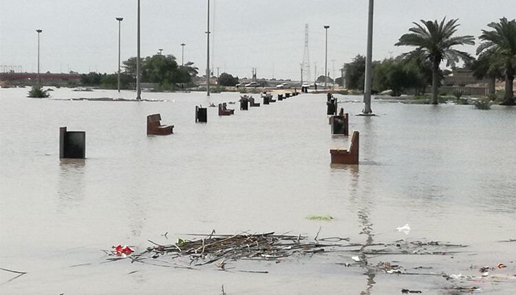 آخرین وضعیت سیل در استان خوزستان وضعیت اضطراری در خوزستان روستاهای حاشیه دز زیر آب رفتند