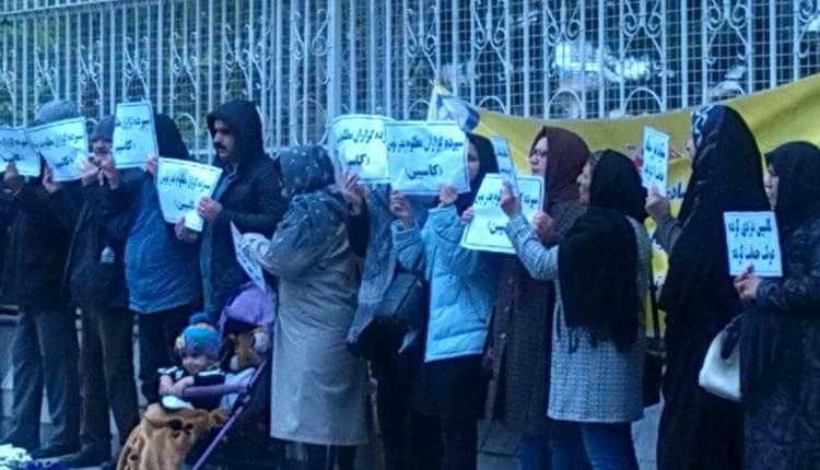 تجمع اعتراضی غارت شدگان موسسه کاسپین و بدر توس در مشهد