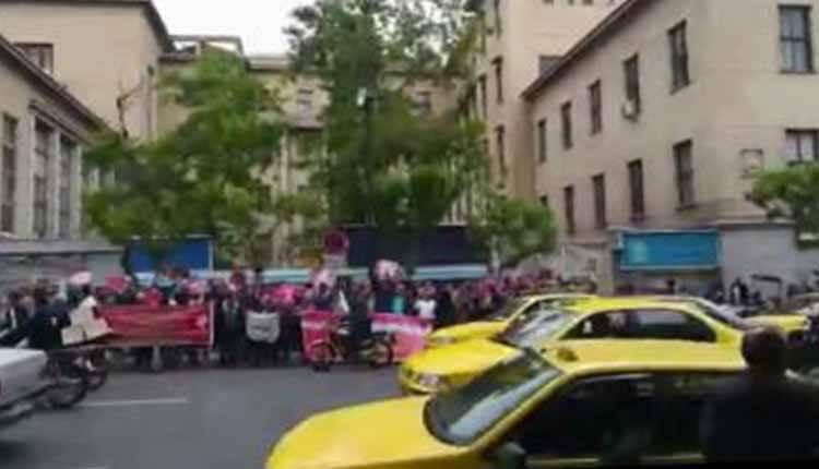 تجمع اعتراضی غارت شدگان موسسه پدیده در مقابل دادستانی رژیم در تهران