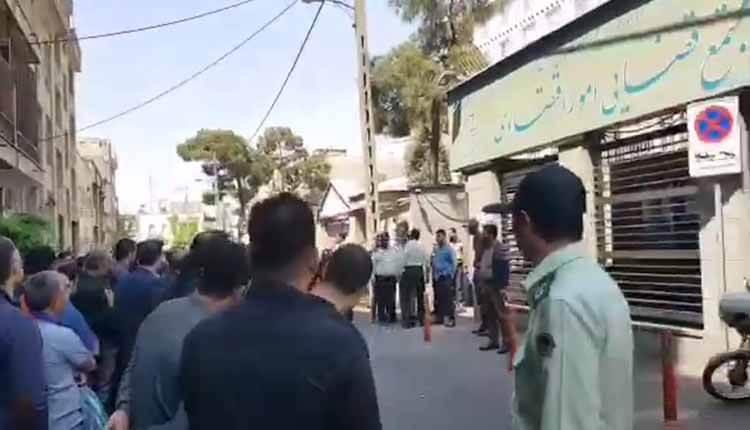 تجمع غارت شدگان شرکت عظیم خودرو در تهران