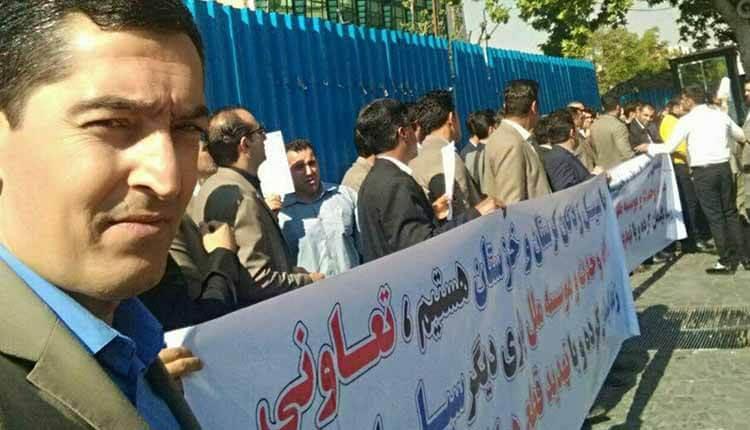تجمع کارکنان اخراج شده موسسه وحدت و ملل در اعتراض به اخراج