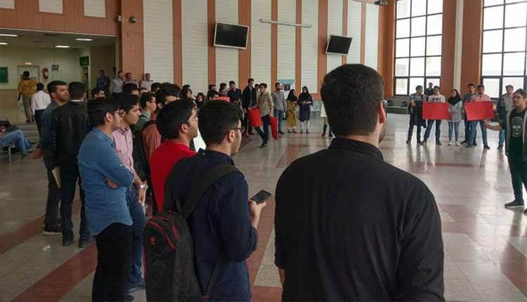 دانشجویان دانشگاه خواجه نصیرالدین نسبت به روند پولی ساز دانشگاه تجمع برگزارکردند