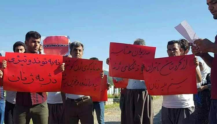 تجمع بیاد قربانیان قتلهای ناموسی و قرائت بیانیه توسط فعالین زنان و کارگری مریوان