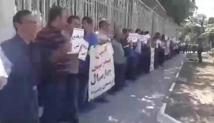 تجمع اعتراضی غارت شدگان بدر توس قدیم و کاسپین جدید مشهد