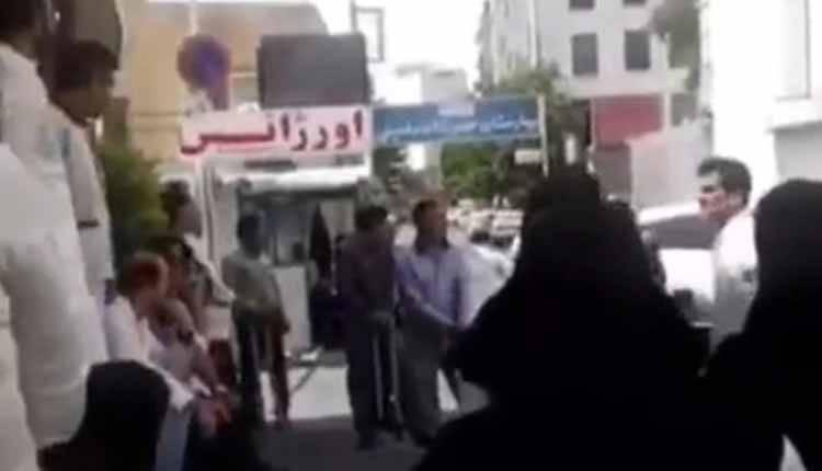 تجمع کارکنان بیمارستان و پرستاران موسوم به خمینی در کرج