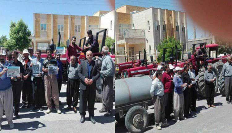 عشایر وکشاورز شهر زرنه واقع در استان ایلام دست به تجمع اعتراضی زدند