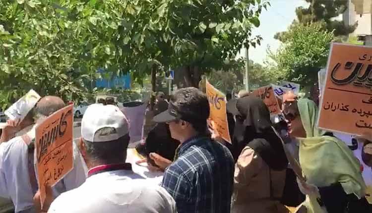 تجمع غارت شدگان کاسپین در تهران