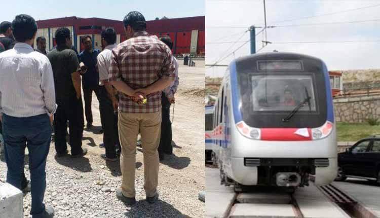 کارگران خط یک قطار شهری تبریز در اعتراض به پرداخت نشدن ده ماه حقوق تجمع اعتراضی برگزار کردند