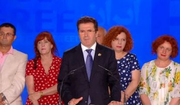 فاتمیر مدیو رئیس حزب جمهوریخواه آلبانی، وزیر دفاع پیشین