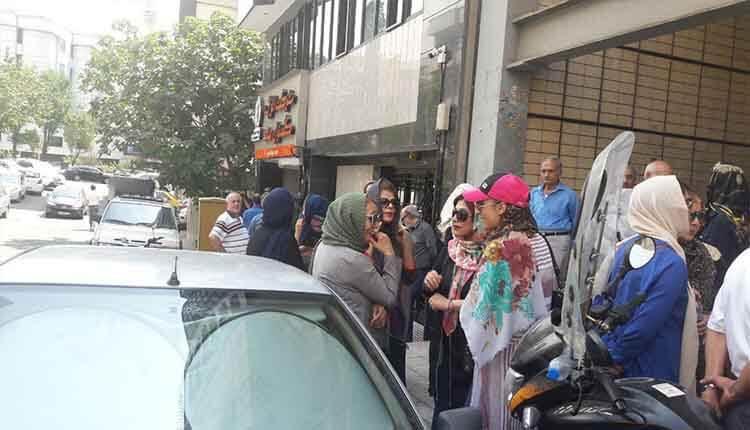 مالباختگان مؤسسه کاسپین در تهران در اعتراض به غارت دارایی یک عمرشان