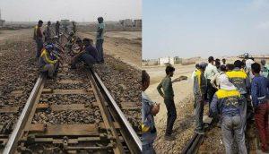 کارگران راه آهن بندرعباس