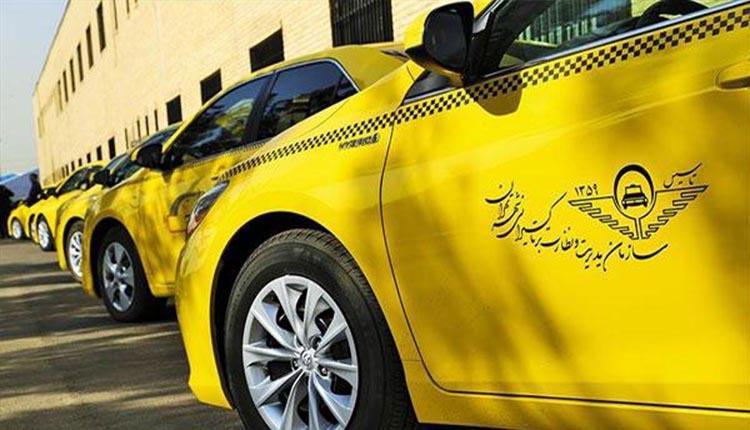 تجمع اعتراضی رانندگان تاکسی شرکت پاکرو سبز قشم در تهران