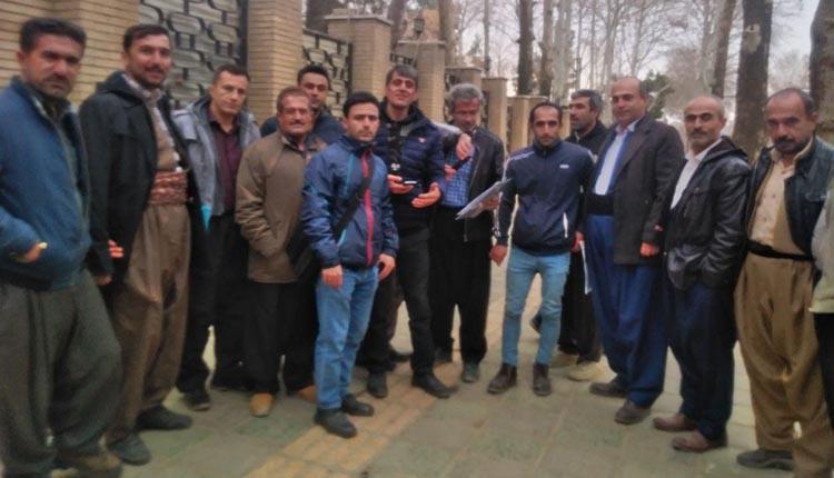 کارگران شایگان مهر آپادانا مریوان تجمع اعتراضی برگزار کردند