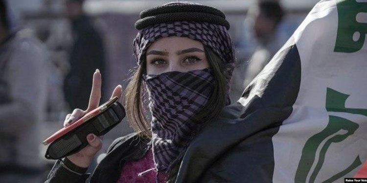 زنان عراق عگال برسر