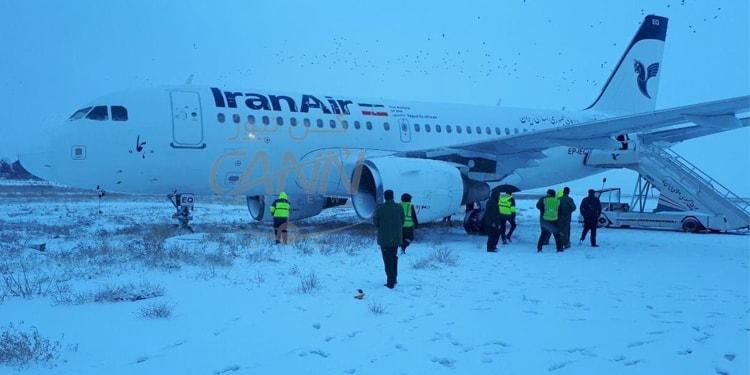 هواپیمای مسافربری کرمانشاه در فرودگاه ازباندخارج شد