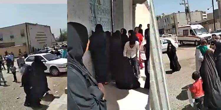 تجمع خانوادههای زندانیان در مقابل زندان سپیدار اهواز