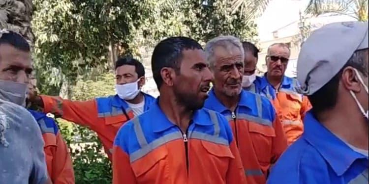 اعتصاب کارگران شهرداری پاک بانان بوشهر