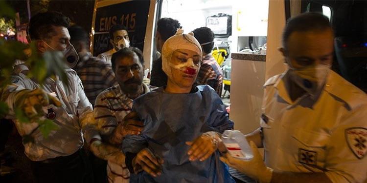 انفجار مهیب در مرکز درمانی سینا اطهر در میدان قدس تهران