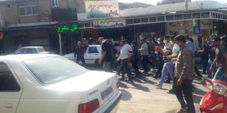 بیستمین روز اعتصاب و راهپیمایی کارگران نیشکر هفتتپه در شهر شوش