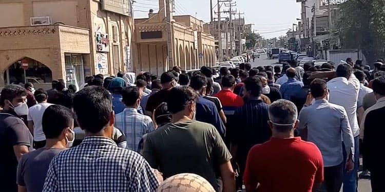 بیست و سومین روز اعتصاب کارگران نیشکر هفت تپه در خیابانهای شوش