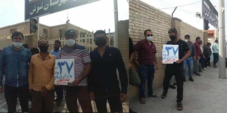 سی وهفتمین روز اعتصاب کارگران نیشکرهفتتپه